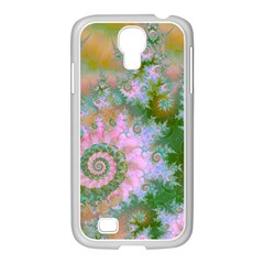 Rose Forest Green, Abstract Swirl Dance Samsung GALAXY S4 I9500/ I9505 Case (White)