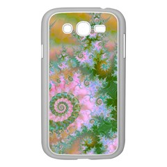 Rose Forest Green, Abstract Swirl Dance Samsung Galaxy Grand DUOS I9082 Case (White)
