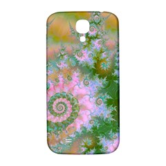 Rose Forest Green, Abstract Swirl Dance Samsung Galaxy S4 I9500/I9505  Hardshell Back Case