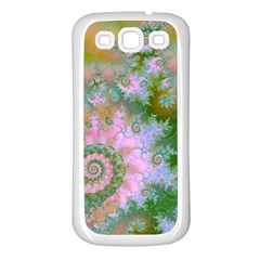 Rose Forest Green, Abstract Swirl Dance Samsung Galaxy S3 Back Case (white)