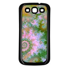 Rose Forest Green, Abstract Swirl Dance Samsung Galaxy S3 Back Case (black)
