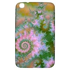Rose Forest Green, Abstract Swirl Dance Samsung Galaxy Tab 3 (8 ) T3100 Hardshell Case