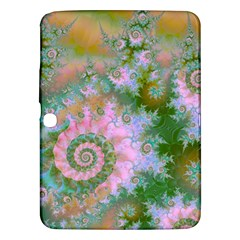 Rose Forest Green, Abstract Swirl Dance Samsung Galaxy Tab 3 (10 1 ) P5200 Hardshell Case