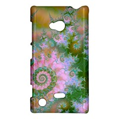 Rose Forest Green, Abstract Swirl Dance Nokia Lumia 720 Hardshell Case