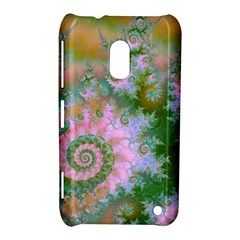 Rose Forest Green, Abstract Swirl Dance Nokia Lumia 620 Hardshell Case