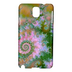 Rose Forest Green, Abstract Swirl Dance Samsung Galaxy Note 3 N9005 Hardshell Case