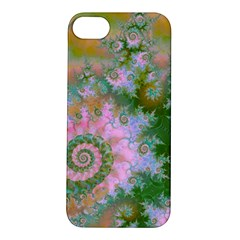 Rose Forest Green, Abstract Swirl Dance Apple iPhone 5S Hardshell Case