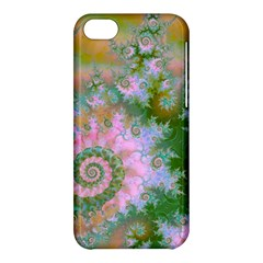 Rose Forest Green, Abstract Swirl Dance Apple iPhone 5C Hardshell Case