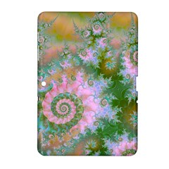 Rose Forest Green, Abstract Swirl Dance Samsung Galaxy Tab 2 (10.1 ) P5100 Hardshell Case