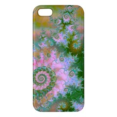 Rose Forest Green, Abstract Swirl Dance Iphone 5s Premium Hardshell Case