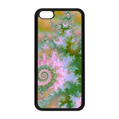 Rose Forest Green, Abstract Swirl Dance Apple iPhone 5C Seamless Case (Black)