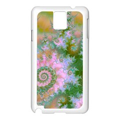 Rose Forest Green, Abstract Swirl Dance Samsung Galaxy Note 3 N9005 Case (white)