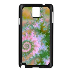 Rose Forest Green, Abstract Swirl Dance Samsung Galaxy Note 3 N9005 Case (Black)
