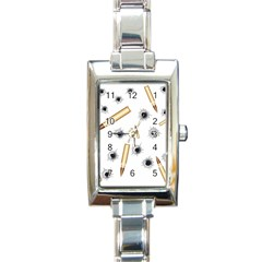 Bulletsnbulletholes Rectangular Italian Charm Watch