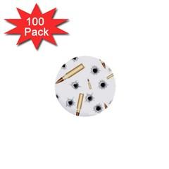 Bulletsnbulletholes 1  Mini Button (100 pack)