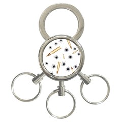 Bulletsnbulletholes 3 Ring Key Chain