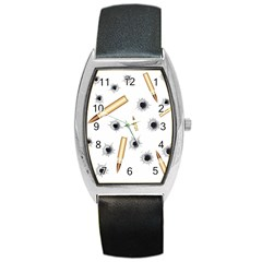 Bulletsnbulletholes Tonneau Leather Watch