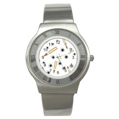 Bulletsnbulletholes Stainless Steel Watch (slim)
