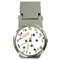 Bulletsnbulletholes Money Clip with Watch