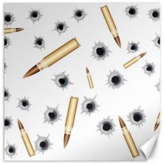Bulletsnbulletholes Canvas 16  x 16  (Unframed)
