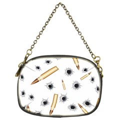 Bulletsnbulletholes Chain Purse (two Sided)