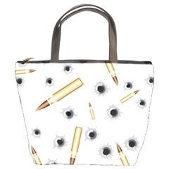 Bulletsnbulletholes Bucket Handbag