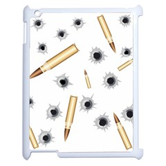Bulletsnbulletholes Apple iPad 2 Case (White)