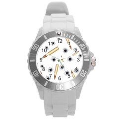 Bulletsnbulletholes Plastic Sport Watch (Large)