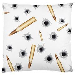 Bulletsnbulletholes Large Cushion Case (Single Sided)