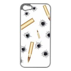 Bulletsnbulletholes Apple iPhone 5 Case (Silver)