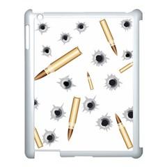 Bulletsnbulletholes Apple iPad 3/4 Case (White)