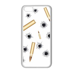 Bulletsnbulletholes Apple iPhone 5C Seamless Case (White)