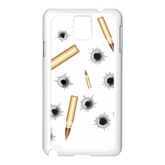Bulletsnbulletholes Samsung Galaxy Note 3 N9005 Case (White)
