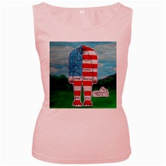 Painted Flag Bigfoot Homo E  Women s Tank Top (pink)
