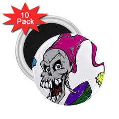 Vaping Jester 2 25  Button Magnet (10 Pack)