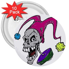 Vaping Jester 3  Button (10 pack)