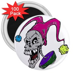 Vaping Jester 3  Button Magnet (100 pack)
