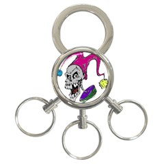 Vaping Jester 3-Ring Key Chain