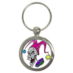 Vaping Jester Key Chain (Round)