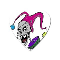 Vaping Jester Magnet (Heart)