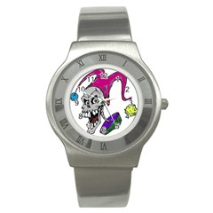 Vaping Jester Stainless Steel Watch (slim)