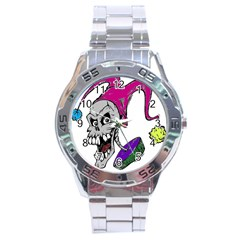 Vaping Jester Stainless Steel Watch
