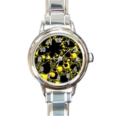Special Fractal 04 Yellow Round Italian Charm Watch