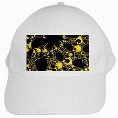 Special Fractal 04 Yellow White Baseball Cap