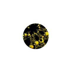 Special Fractal 04 Yellow 1  Mini Button Magnet