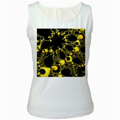 Special Fractal 04 Yellow Women s Tank Top (White)