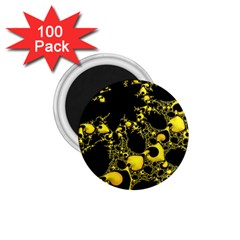 Special Fractal 04 Yellow 1.75  Button Magnet (100 pack)