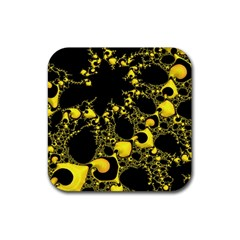 Special Fractal 04 Yellow Drink Coaster (Square)