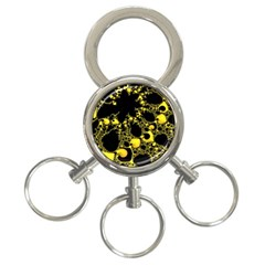 Special Fractal 04 Yellow 3-Ring Key Chain