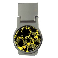 Special Fractal 04 Yellow Money Clip (Round)